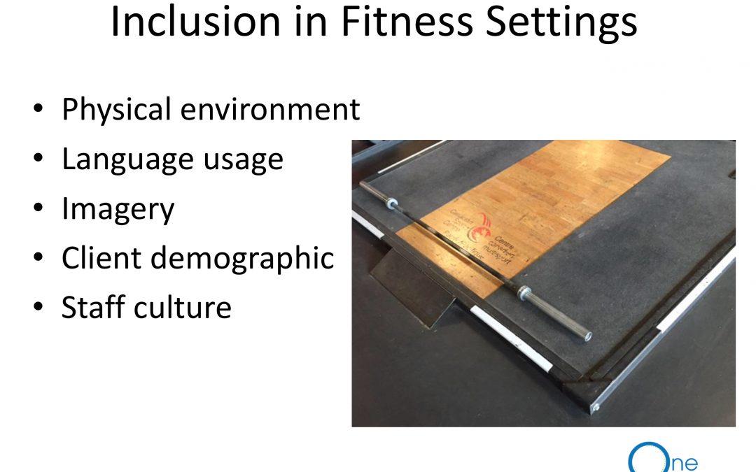 Inclusive Fitness Webinar